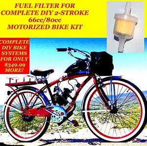 Fuel Filter For Complete 2 80cc Motorized