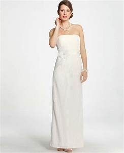 ann taylor petite lace column wedding dress in white With petite lace wedding dresses