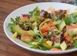 Salat Mit Geräuchertem Lachs : mango avocado salat mit lachsstreifen rezept ~ Orissabook.com Haus und Dekorationen