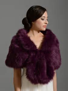 purple faux fur wrap bridal wrap faux fur shrug faux fur stole