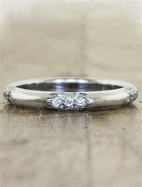 floral diamond patterned wedding ring ken design