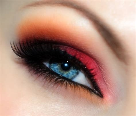 lovely  colorful eye makeup close   funky
