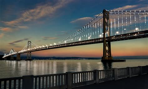 philips led technology helps shine light on bay bridge as