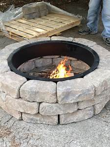 The Ashland Concrete Firepit Kit From Lowe U0026 39 S