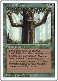 Magic The Gathering Treefolk Deck by Ironroot Treefolk Magic Card