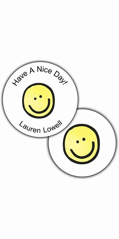 Round Smiley Face Seals Stickers Primfection Fonts