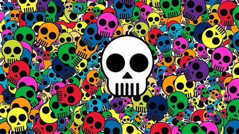 Download Wallpaper 1920x1080 skull background bright
