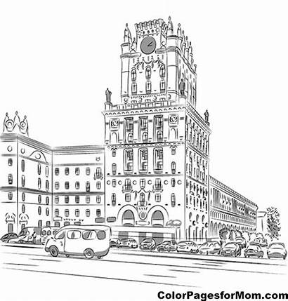 Coloring Buildings Pages