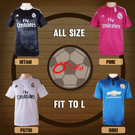 baju bola jersey real madrid barcelona mu murah fit