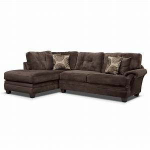 cordelle 2 piece left facing chaise sectional chocolate With sectional sofas left facing chaise