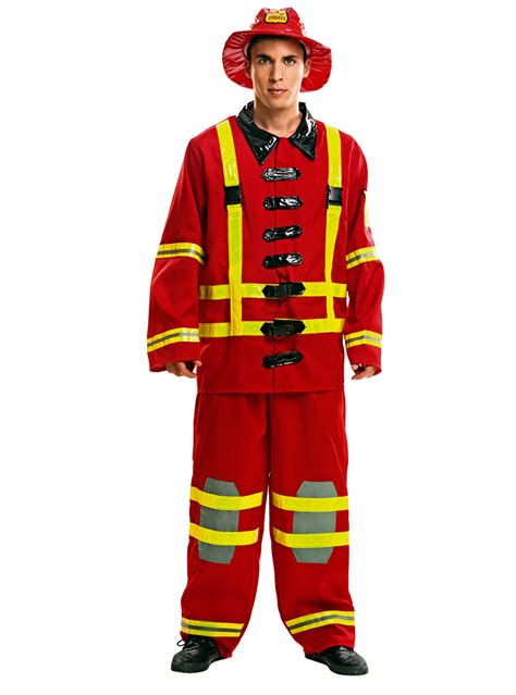 mans fireman  action costume