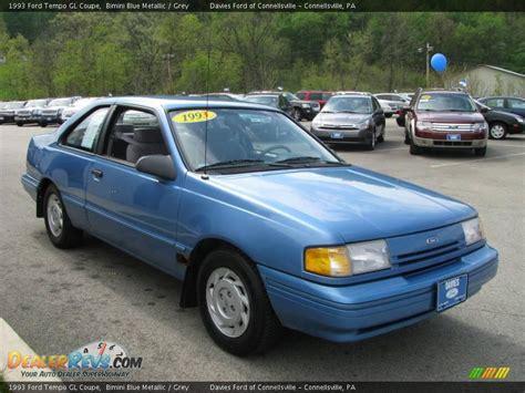 1993 Ford Tempo Gl Coupe Bimini Blue Metallic / Grey Photo