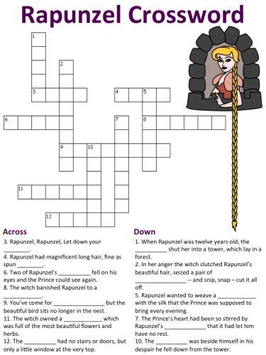 rapunzel crossword puzzles