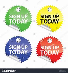 Sign Now Stickers Vector Stock Vector 147063071 - Shutterstock