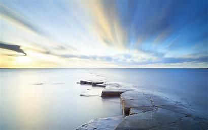 Horizon Sky Sea 4k Wallpapers Nature Background