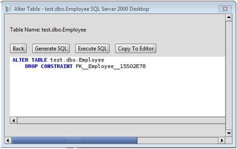 ms sql server drop primary key   ms sql server