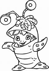 Coloring Pages Inc Disney Monsters Monster Vs Alien Characters Scary Super Boo Printable Mike Aliens Colouring University Wecoloringpage Wazowski Halloween sketch template