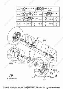 Yamaha Atv 2007 Oem Parts Diagram For Front Wheel