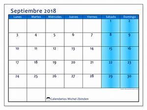 Calendarios septiembre 2018 (LD)