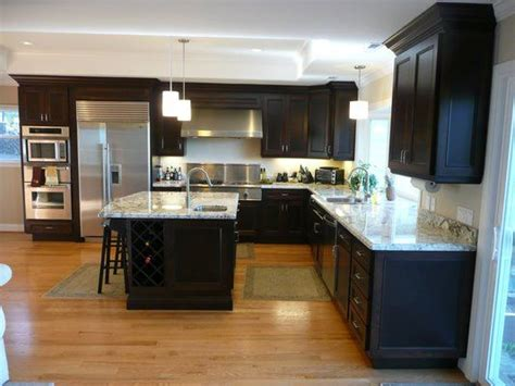 white and espresso kitchen cabinets kitchen with espresso stained cherry cabinets granite 1735