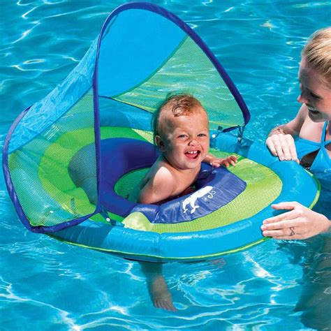 baby pool float with canopy swimways baby float with canopy toysplash