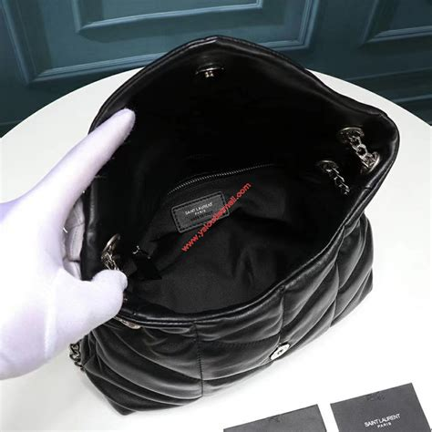 saint laurent small loulou puffer bag  quilted lambskin black outlet yves saint laurent cheap