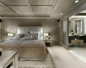chambre avec salle de bain fusion d39espaces harmonieuse With porte de douche coulissante avec salle de bain vintage moderne
