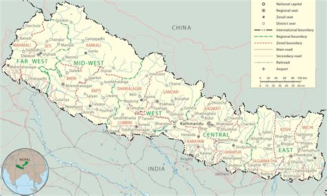 nepal maps detailed nepal travel maps