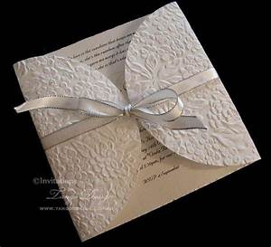 white ivory champagne and gold wedding invitation With wedding invitation embossing stencil