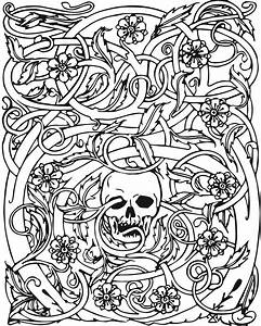 Free Adult Halloween Coloring Pages Coloring Pages Kids