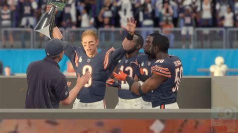 Madden Nfl 18 Chicago Bears Super Bowl Celebration Youtube