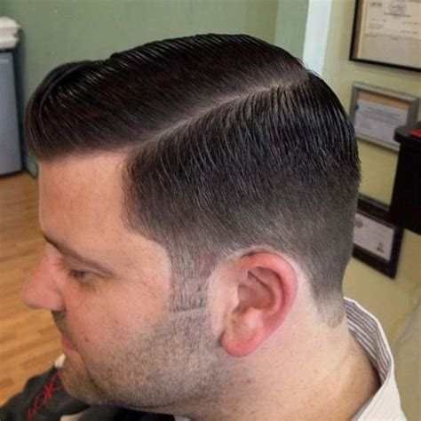side part fade  men hairstylo