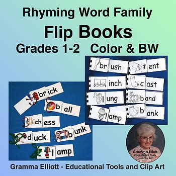 rhyming word family flip books grades 1 2 phonics in color