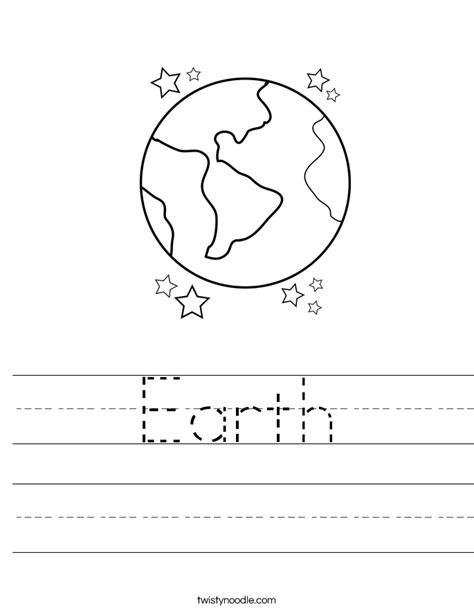 earth worksheet twisty noodle 307 | earth worksheet