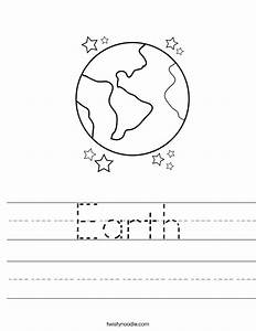 Earth Worksheet - Twisty Noodle