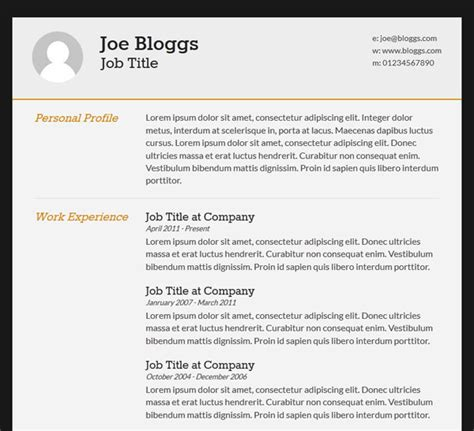Css3 Resume by Cv Template 2017 2018 Best Cars Reviews