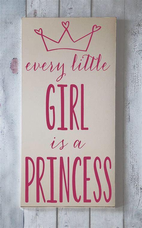 girl   princess wooden sign  vinylcrafts