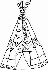 Coloring Native Teepee Indian Wigwam Tepee Tipi sketch template