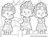 Triplets Brave Coloring Disney sketch template