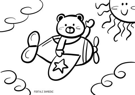 disegni bambina da stare e colorare aeroplani da stare e colorare portale bambini