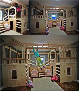10 cool diy bunk bed ideas for kids 7 ideoita kotiin for Unique bunk beds to for your happier kids