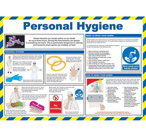 personal hygiene poster safety services direct