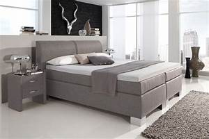 Boxspringbett 1 40 : dreams4home boxspringbett manhattan kt4 grau 100 140 ~ Whattoseeinmadrid.com Haus und Dekorationen