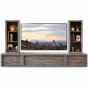 Gray Floating TV Stand Modern Wall Mount Entertainment ...