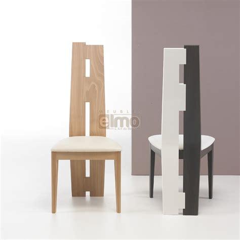 Chaise Salle à Manger Asymétrique Design Moderne Bois