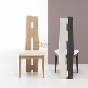 Chaise salle a manger asymetrique design moderne bois for Chaises de salle à manger design