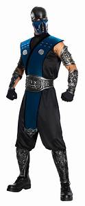 Mortal Kombat Subzero Ninja Mens Fancy Dress Up Halloween ...