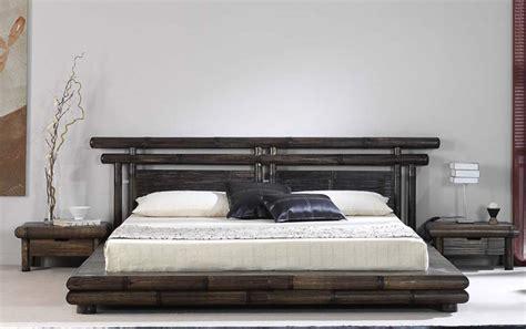 chambre en bambou lit bambou wengé tao dimensions au choix 4538
