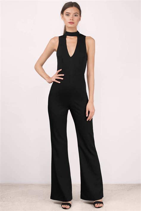and black jumpsuit black jumpsuit plunging v jumpsuit 38 00
