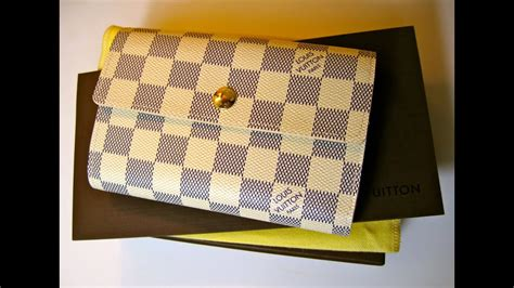 unboxing louis vuitton alexandra wallet  damier azur youtube